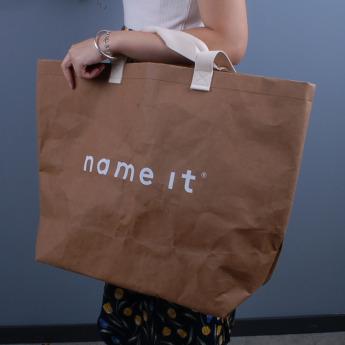 Непромокаемая бумажная сумка с тканевыми ручками Фото 4