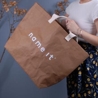 Непромокаемая бумажная сумка с тканевыми ручками Фото 5