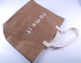 Непромокаемая бумажная сумка с тканевыми ручками Фото 6