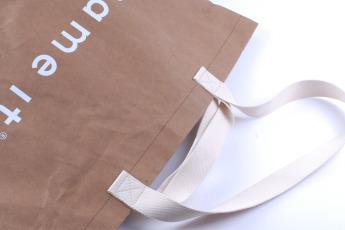 Непромокаемая бумажная сумка с тканевыми ручками Фото 7