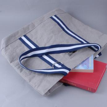 Непромокаемая бумажная сумка с тканевыми ручками Фото 8