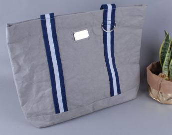 Непромокаемая бумажная сумка с тканевыми ручками Фото 9