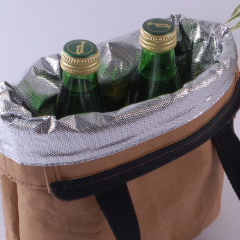 Непромокаемая бумажная сумка холодильник для ланчей Фото 2