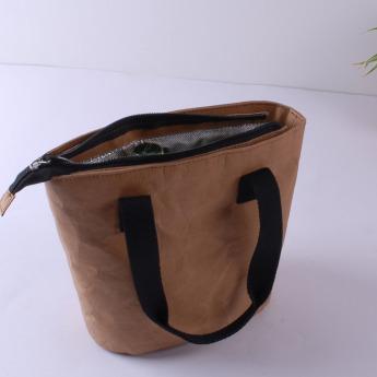 Непромокаемая бумажная сумка холодильник для ланчей Фото 3