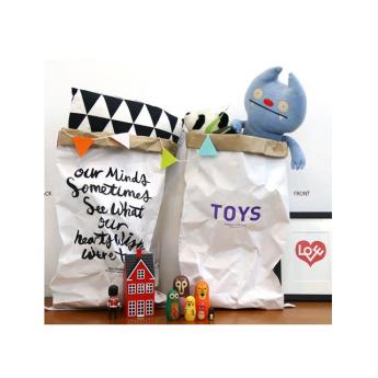 Непромокаемый бумажный многоразовый мешок для хранения игрушек Фото 1