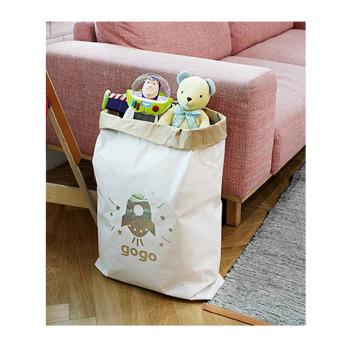 Непромокаемый бумажный многоразовый мешок для хранения игрушек Фото 2