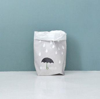Непромокаемый бумажный многоразовый пакет кулер Фото 1