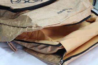 Непромокаемый бумажный складной рюкзак Фото 7