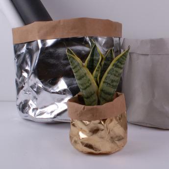 Непромокаемый бумажный цветочный горшок или ваза Фото 1