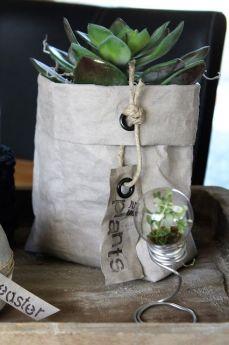 Непромокаемый бумажный цветочный горшок или ваза Фото 17