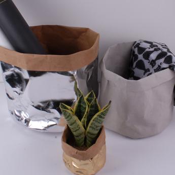 Непромокаемый бумажный цветочный горшок или ваза Фото 2