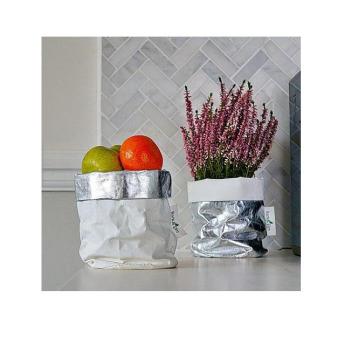 Непромокаемый бумажный цветочный горшок или ваза Фото 25
