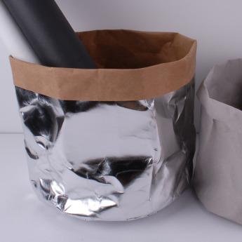 Непромокаемый бумажный цветочный горшок или ваза Фото 3