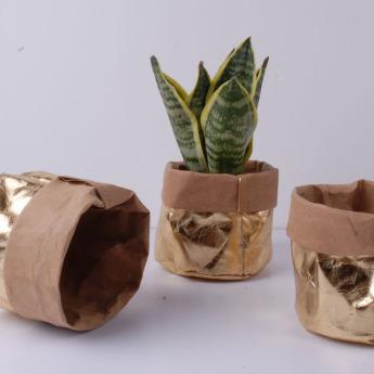 Непромокаемый бумажный цветочный горшок или ваза Фото 4