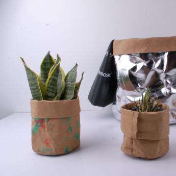 Непромокаемый бумажный цветочный горшок или ваза Фото 6