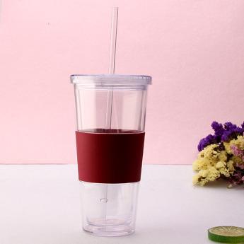 Пластиковый стакан 350-500 мл с силиконовой вставкой Фото 1