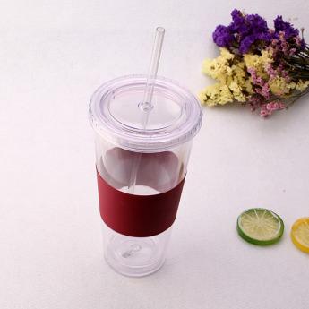 Пластиковый стакан 350-500 мл с силиконовой вставкой Фото 2