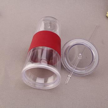 Пластиковый стакан 350-500 мл с силиконовой вставкой Фото 4
