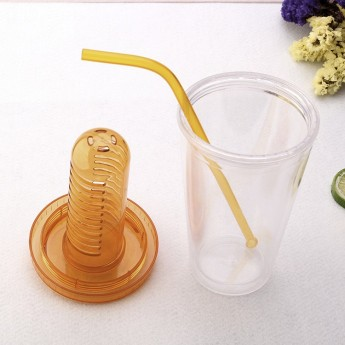 Пластиковый стакан 450мл с контейнером сеткой Фото 1