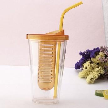 Пластиковый стакан 450мл с контейнером сеткой Фото 2
