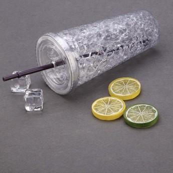 Пластиковый стакан 450 мл с сохраняющим холод эффектом Фото 7