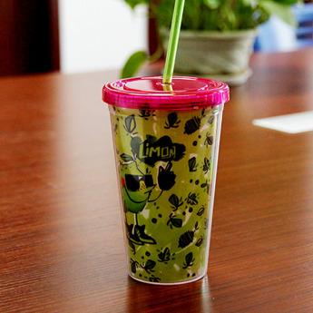 Пластиковый стакан 500 мл с полиграфической вставкой Фото 1