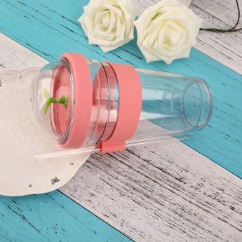 Пластиковый стакан 700мл с держателем трубочки Фото 1