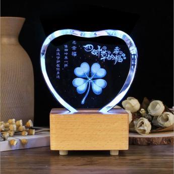 3D лазерная гравировка внутри стекла Bluetooth колонка Фото 10