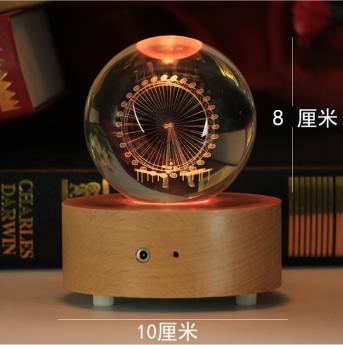 3D лазерная гравировка внутри стекла Bluetooth колонка Фото 19