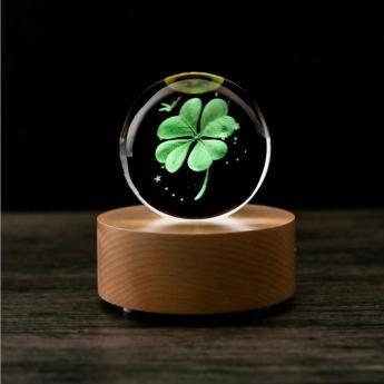 3D лазерная гравировка внутри стекла Bluetooth колонка Фото 2