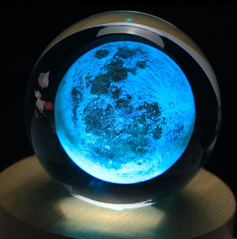 3D лазерная гравировка внутри стекла Bluetooth колонка Фото 5