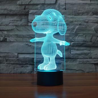 Snoopy-3D-Lamp-Night-Light-Touch-Table