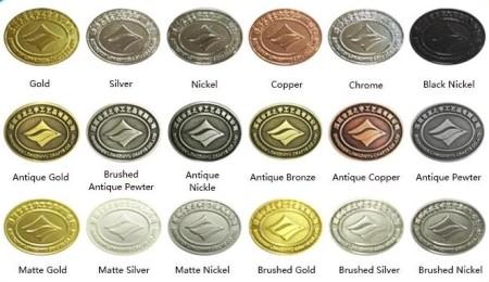 Каталог цветов метала для изготовления медалей и значков