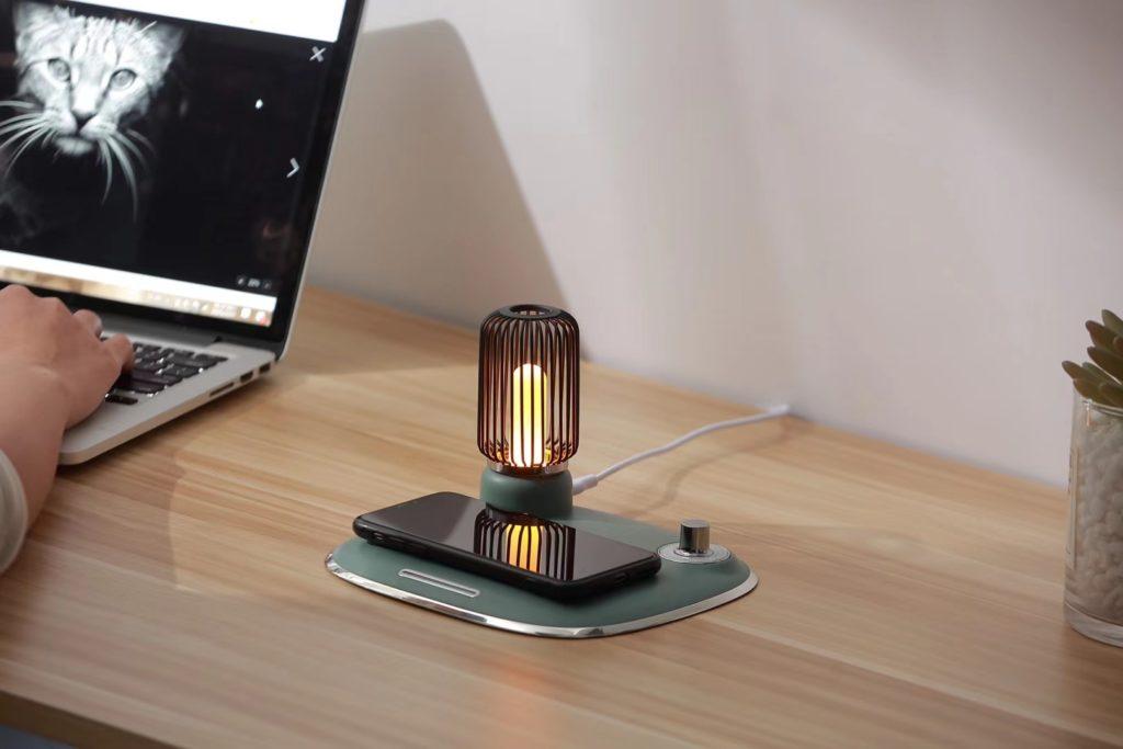 Креативные светильники с беспроводной зарядкой