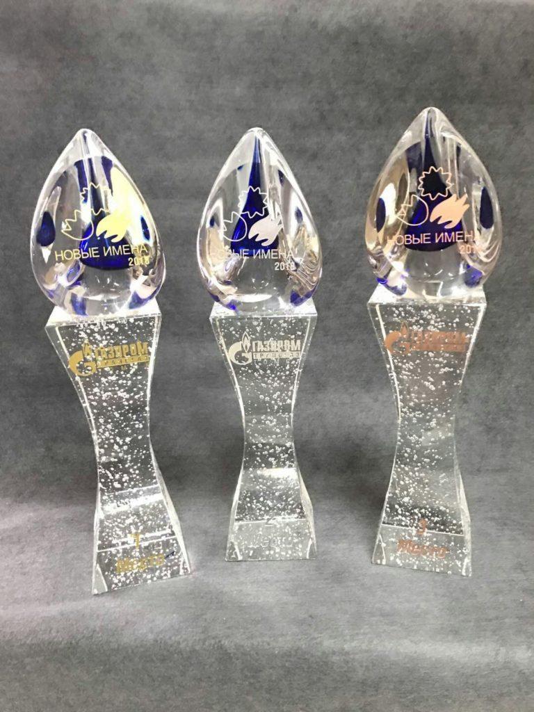 Награды, призы и изделия из стекла